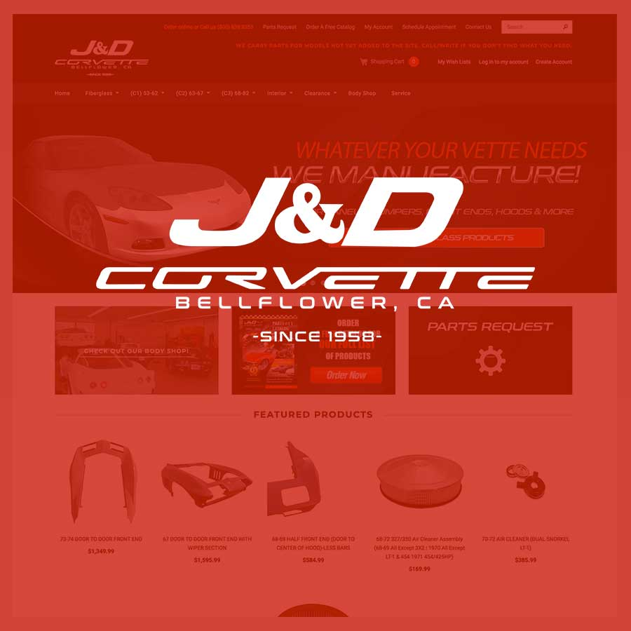 J&D Corvette Website